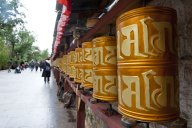 Buddhist prayer wheels, Bhutan