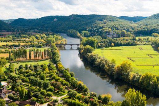View of Dordogne from Château de Beynac