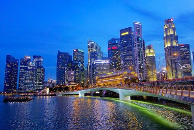 Singapore River by night