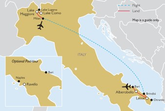 From the Italian Alps to Puglia Itinerary