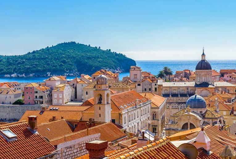 Old city of Dubrovnik and Lokrum Island