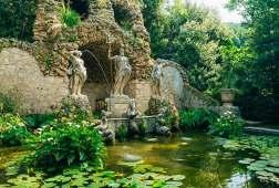 Fountain Neptune in Trsteno Arboretum