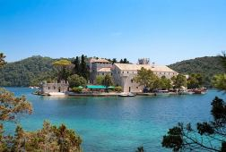 Monastery of Saint Mary situated on St Marys Island in Mljet
