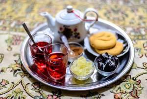 Traditional Iranian chai (tea)