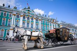 Carriage near the Hermitage, St Petersburg