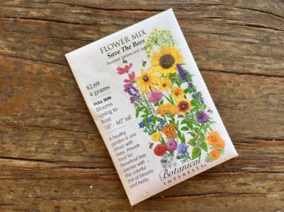 Nursery plants for arizona bees—seeds