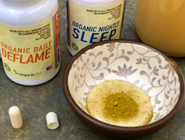 moringa powder on honey