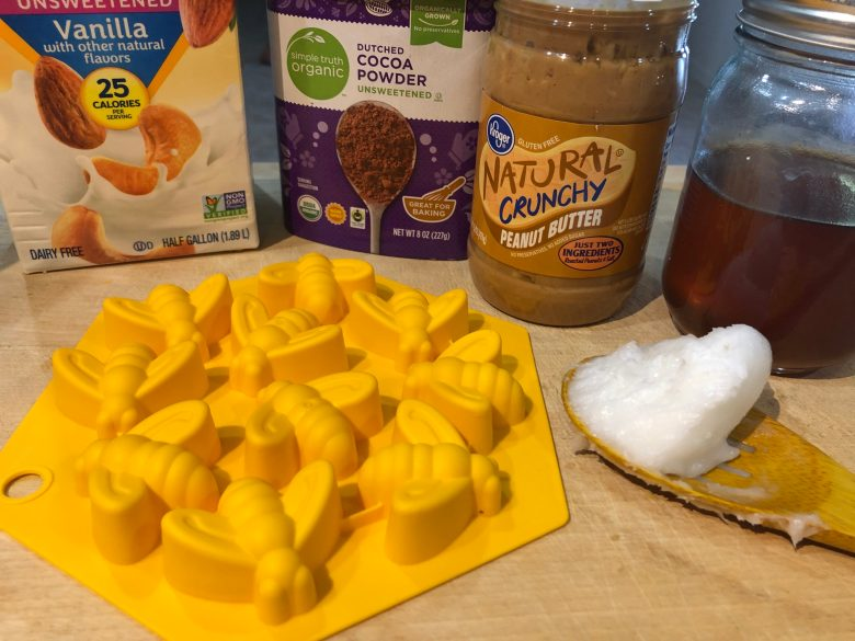 ingredients for honey peanut butter chocolates
