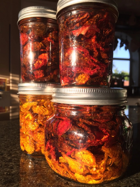 Wine-soaked sundried tomatoes