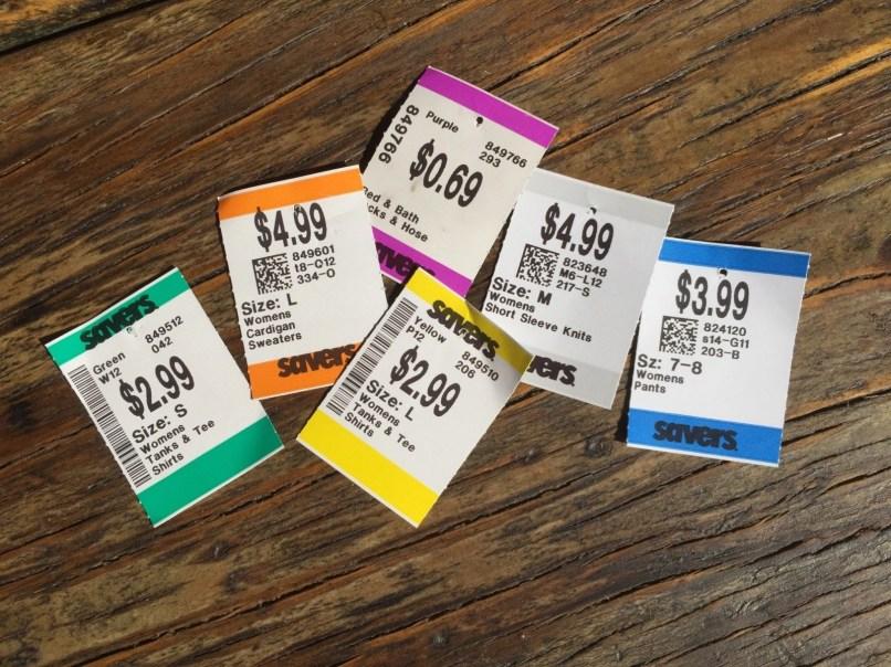 Savers color tags