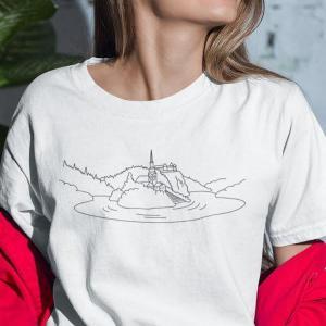 Bled pobarvanka na majici Slovenija