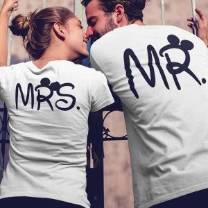 Komplet majic za par Mrs in Mr