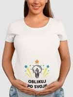 unikatno potiskana nosečniška majica