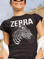 Zebra, black and white majica