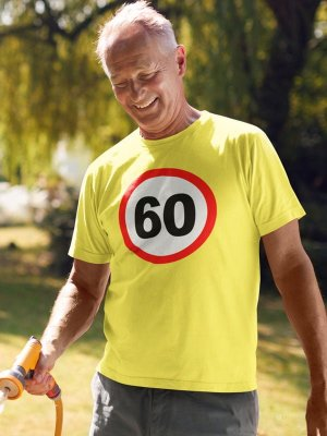Prometni znak 60 let, majica za 60 let