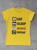Eat sleep anime repeat ženska majica, ženska majica