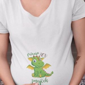 Prihaja nov zmajček nosečniška majica
