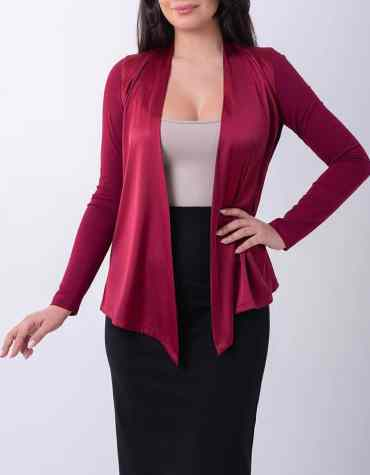 Cardigan Satin Bordeaux