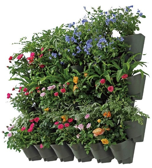 Incroyable SELF Watering Vertical Wall Hangers With Pots Included   Wall Plant Hangers    Each Wall Mounted