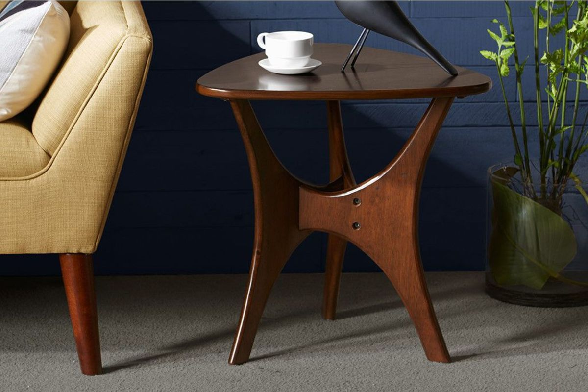 Blaze Triangle Wood Side Table By INK+IVY At Gardner-White
