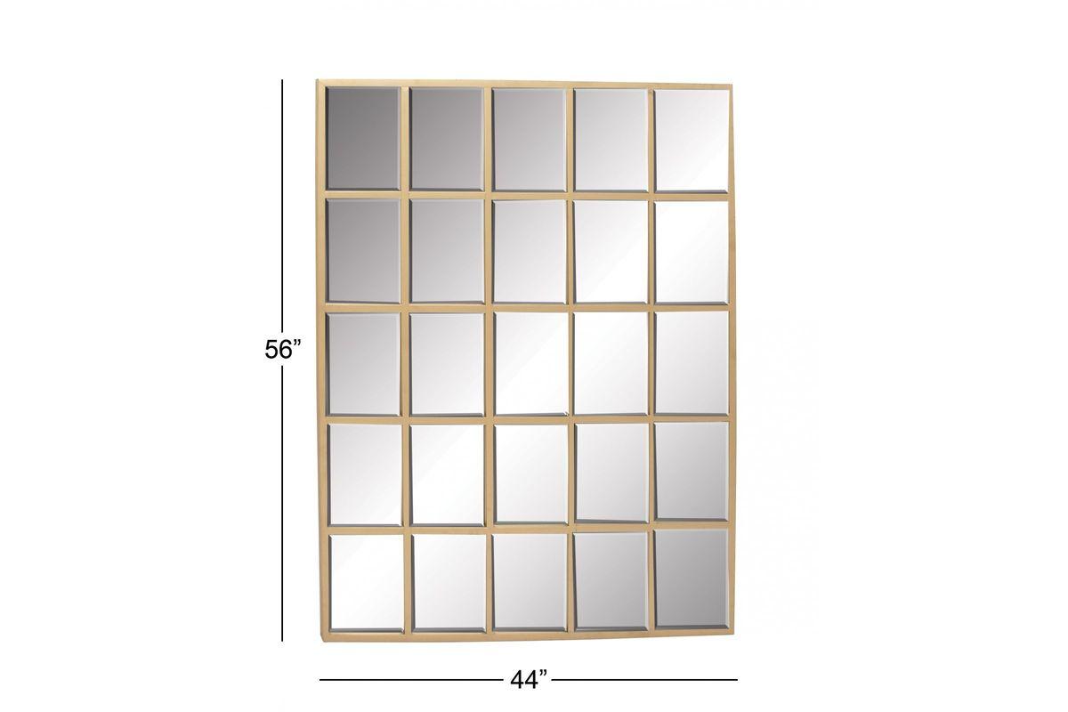 "Modern Reflections 56"" 25 Panel Rectangular Wall Mirror In"