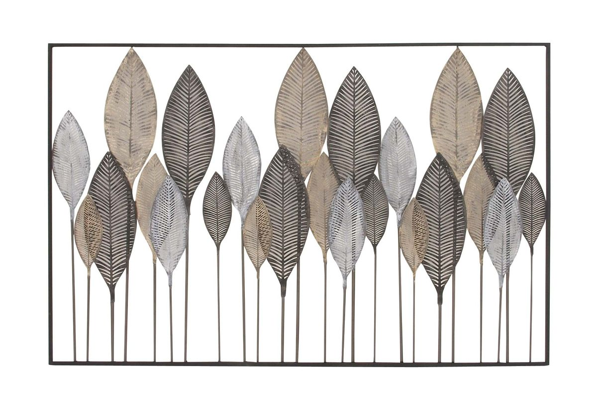 Natural Reflections Leaf Wall Decor At Gardner-White