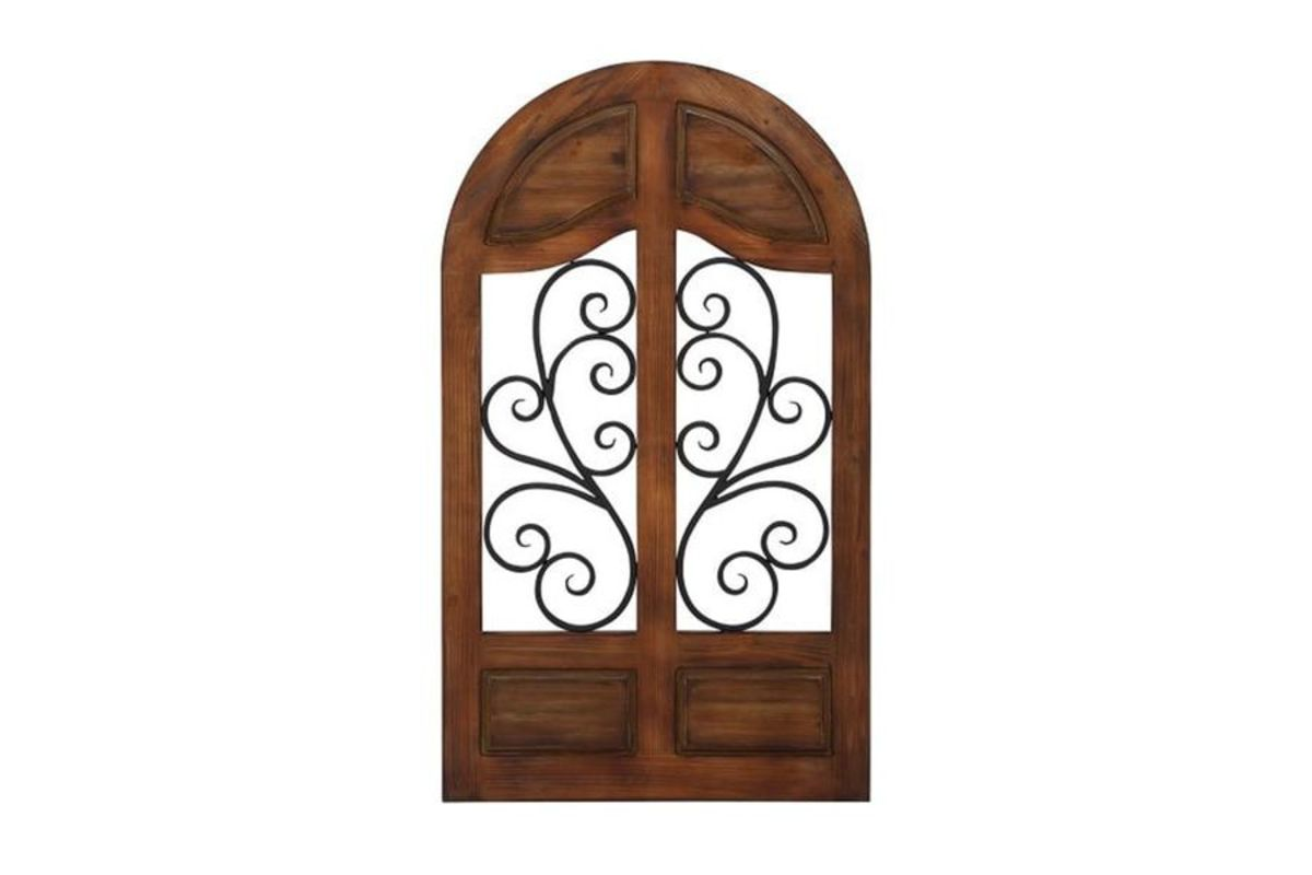 Rustic Reflections Wrought Iron Cathedral Wall Decor At