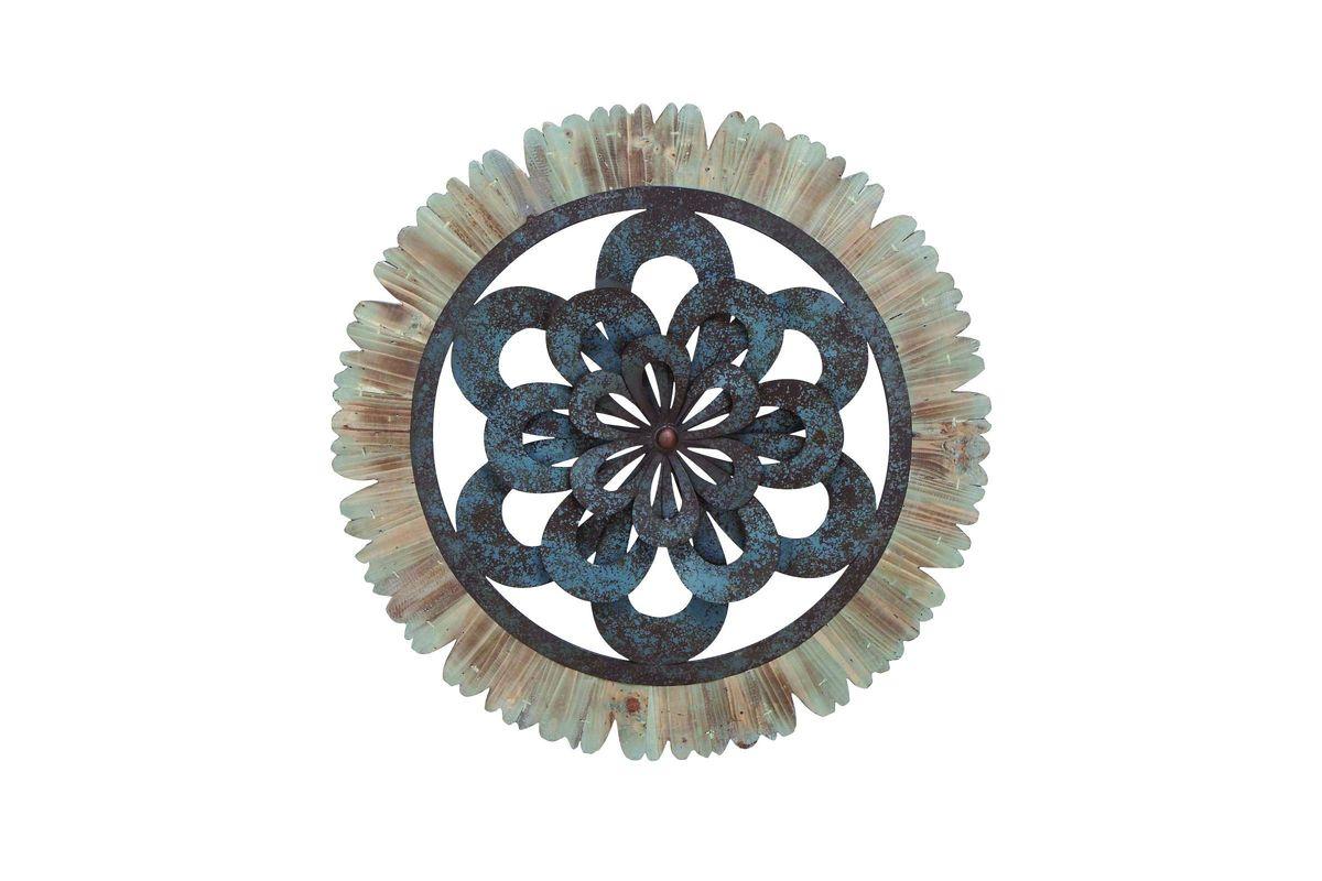 Rustic Circular Wrought Iron Wall Decor At Gardner-White