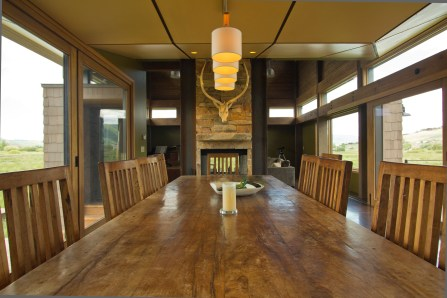 Dining room & fireplace