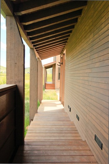 Exterior walkway to access studio