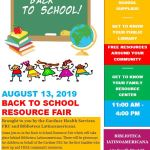 8/13/19 – Back to School Resource Fair