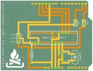 Arduino Burner PCB