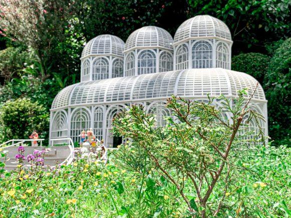 Réplica da estufa do Jardim Botânico de Curitiba