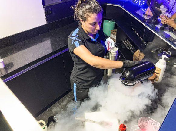 preparação de sorvete de nitrogênio