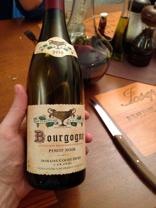 2010 Coche Dury Bourgogne rouge.