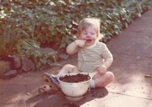 Jon eating dirt 1975 Little Rock, ARK