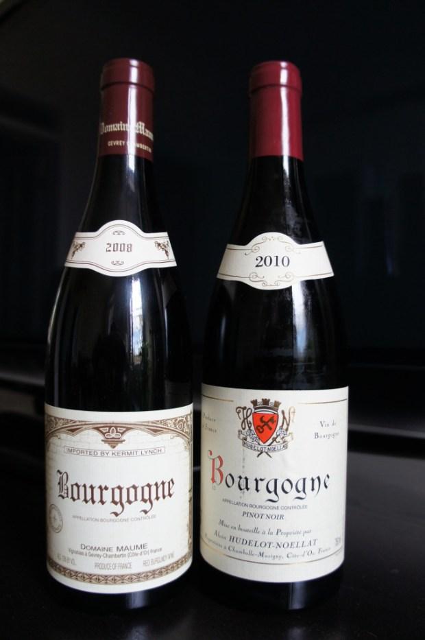 2008 Maume, 2010 Hudelot Noellat Bourgogne