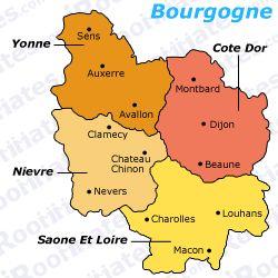 bourgogne departments