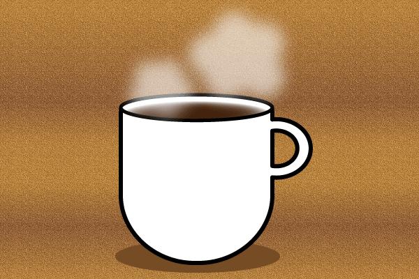 コーヒーカップと湯気の描き方