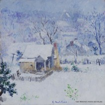 """Cottage in Snow"""