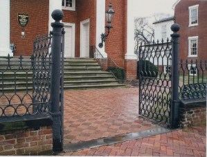 Main double gate entrance.