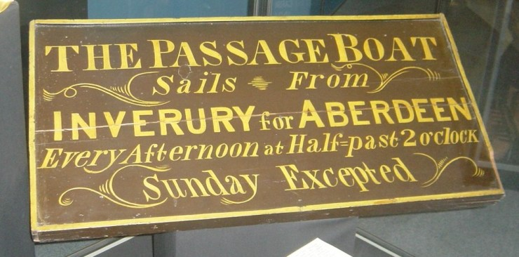 1 1G f5 Canal boat sign