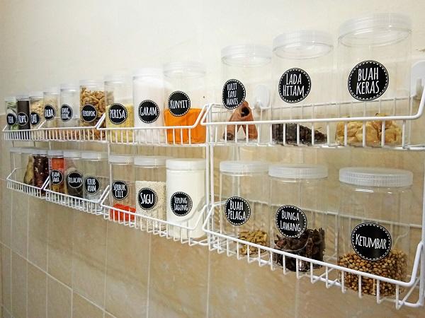 Dengan Bermodalkan RM80 Anda Boleh Buat Sendiri Rak Dapur Comel Ini
