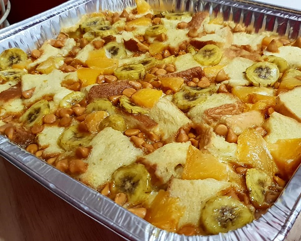 Resepi Puding Tanpa Gula, Banana Peaches Butterscotch Bread Pudding