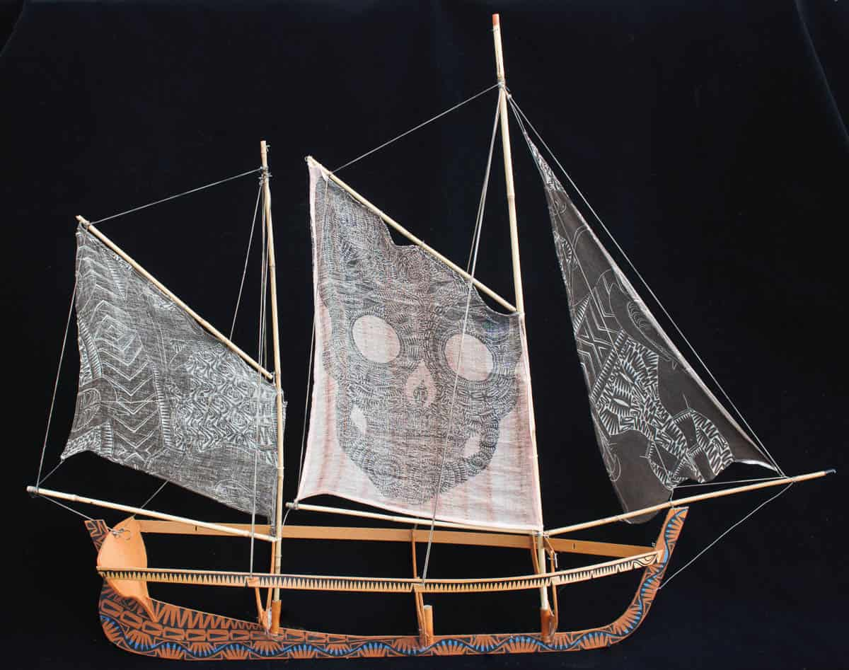 Glen Mackie 'Storyboat' based on his great great grandfather's pearl lugging history