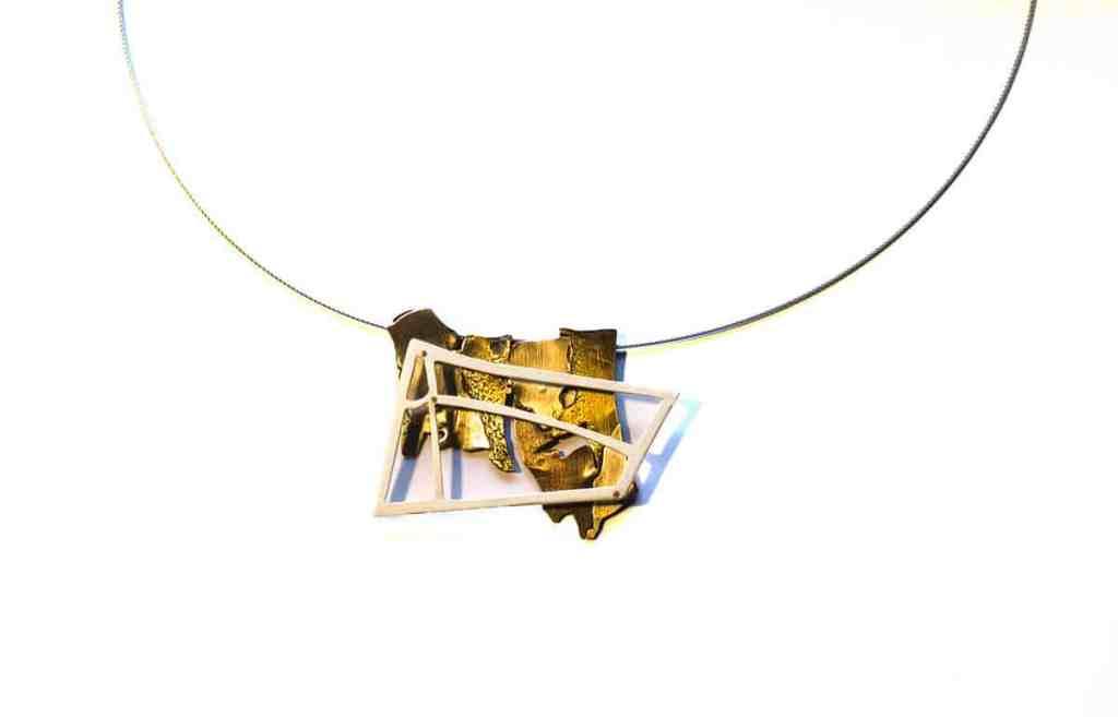 Helen Wyatt, Headland series 2016, 925 silver, brass, copper, stainless steel, 6x5cms, photo: Helen Wyatt