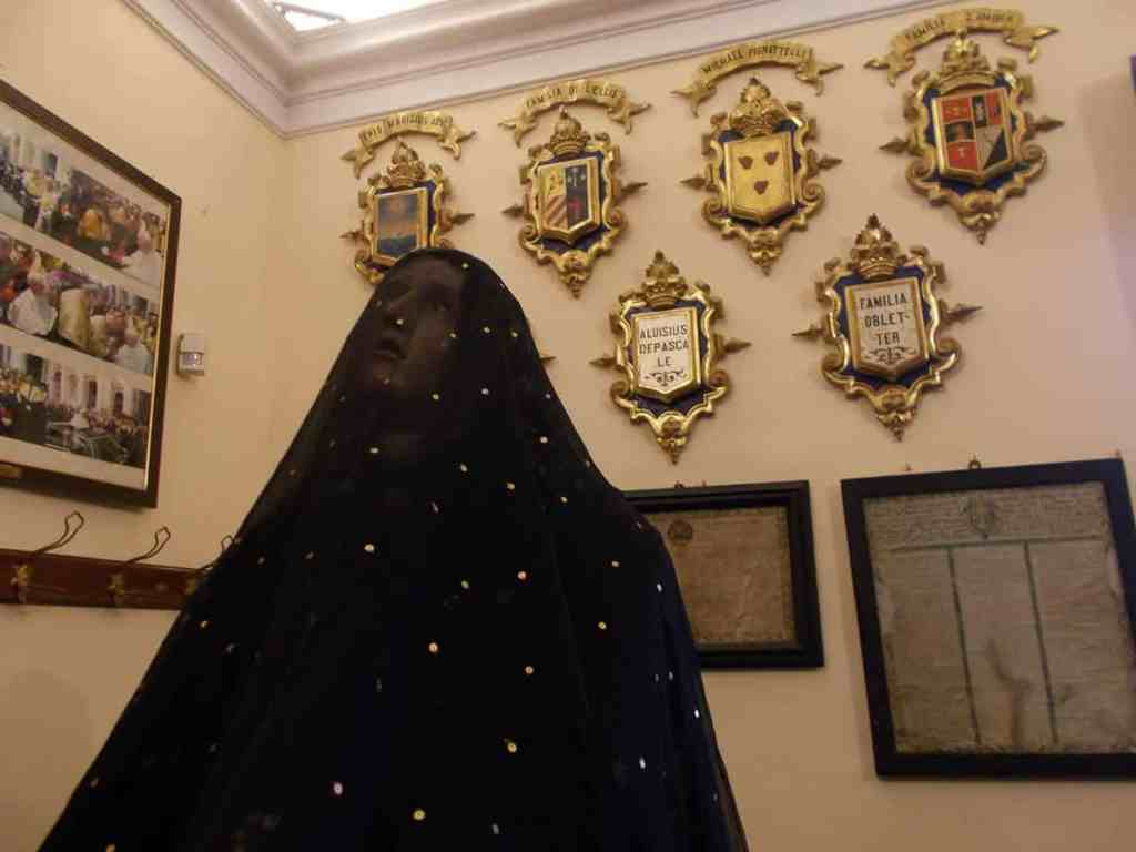 The statue of the Virgin Mary dressed in her mourning gown with veil, photo: Anna Battista