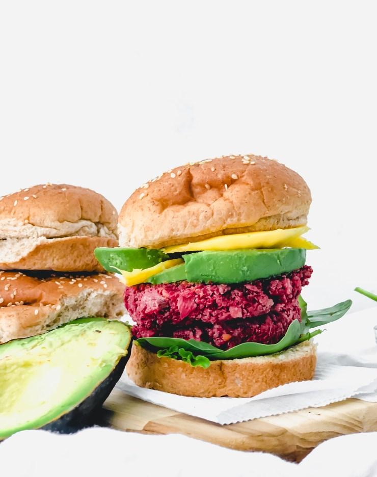 quinoa beet burger