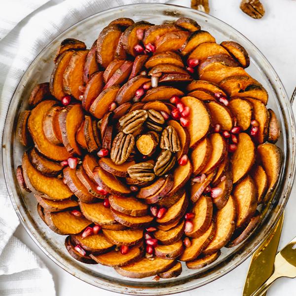 sweet potato rose tart