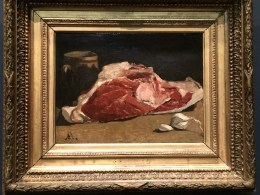 Monet may be known for landscapes but he paints a mean prosciutto and garlic